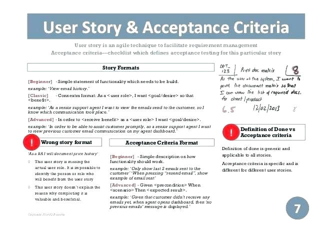user stories template agile spreadsheet project charter schedule plan sample story templates software development