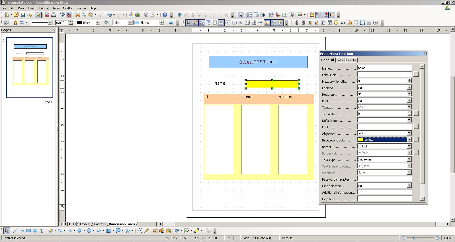 pdf templates using openoffice draw and itext in java