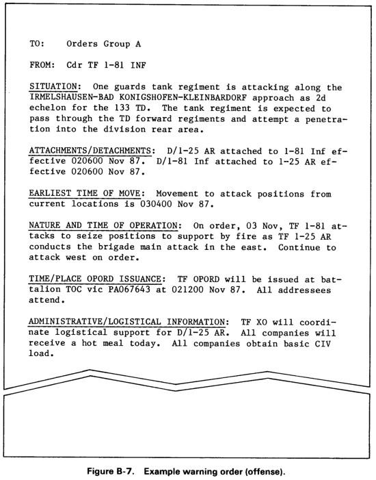 warning order template usmc