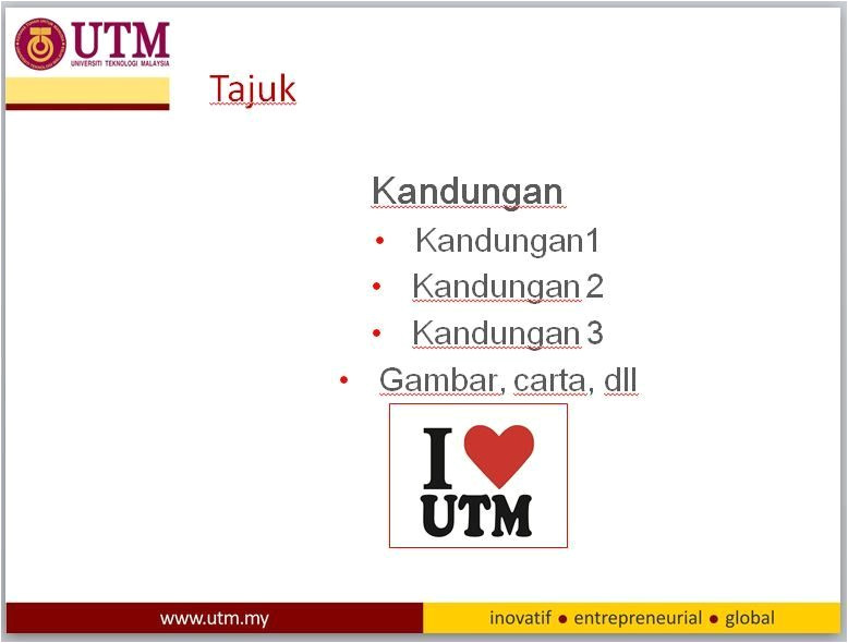 utm powerpoint template