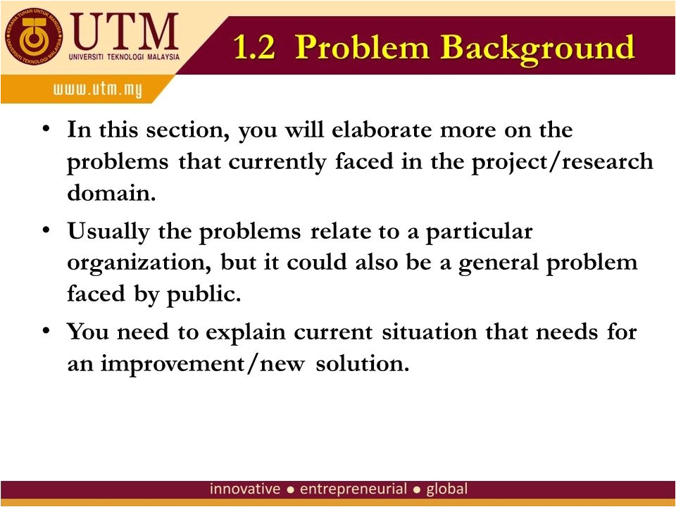utm slide presentation template