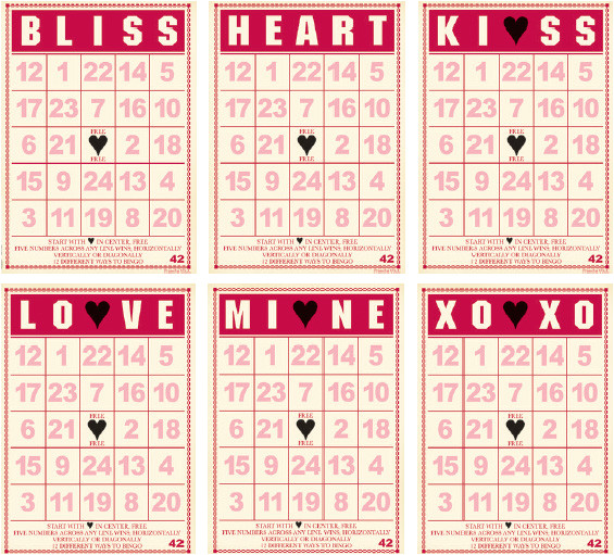 post valentine cookie bingo card printable 307643