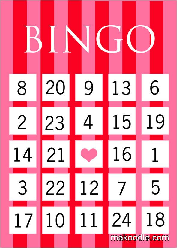 Valentine Bingo Template Valentines Bingo Makoodle