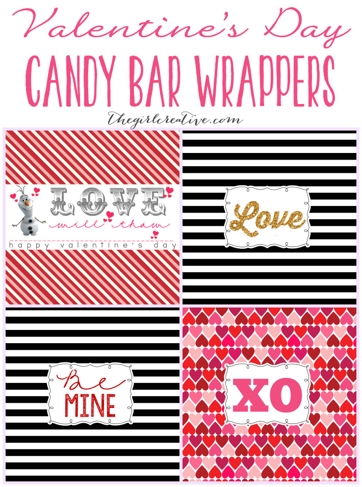 Valentine Candy Bar Wrapper Templates Valentine 39 S Day Candy Bar Wrappers the Girl Creative