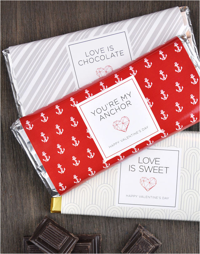 valentines day printable chocolate bar wrappers