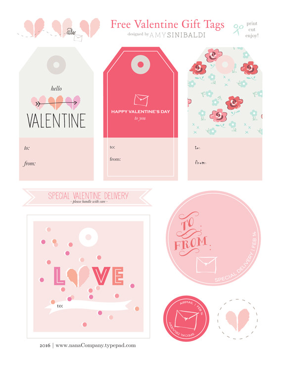 nanacompany valentine gift tags free printable