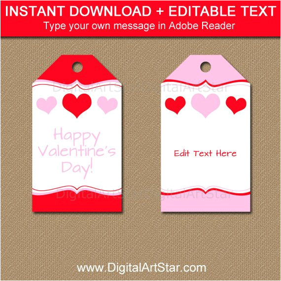 printable valentines day gift tag