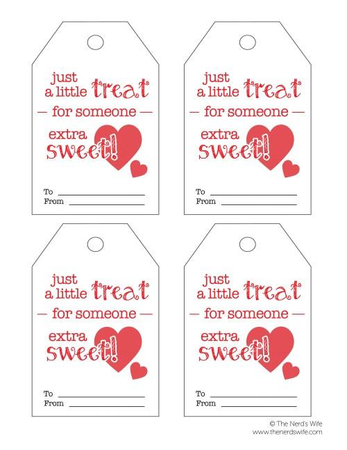 sweet treat valentine printable