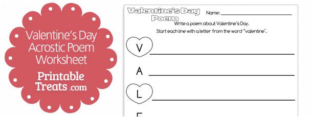 printable valentines day acrostic poem