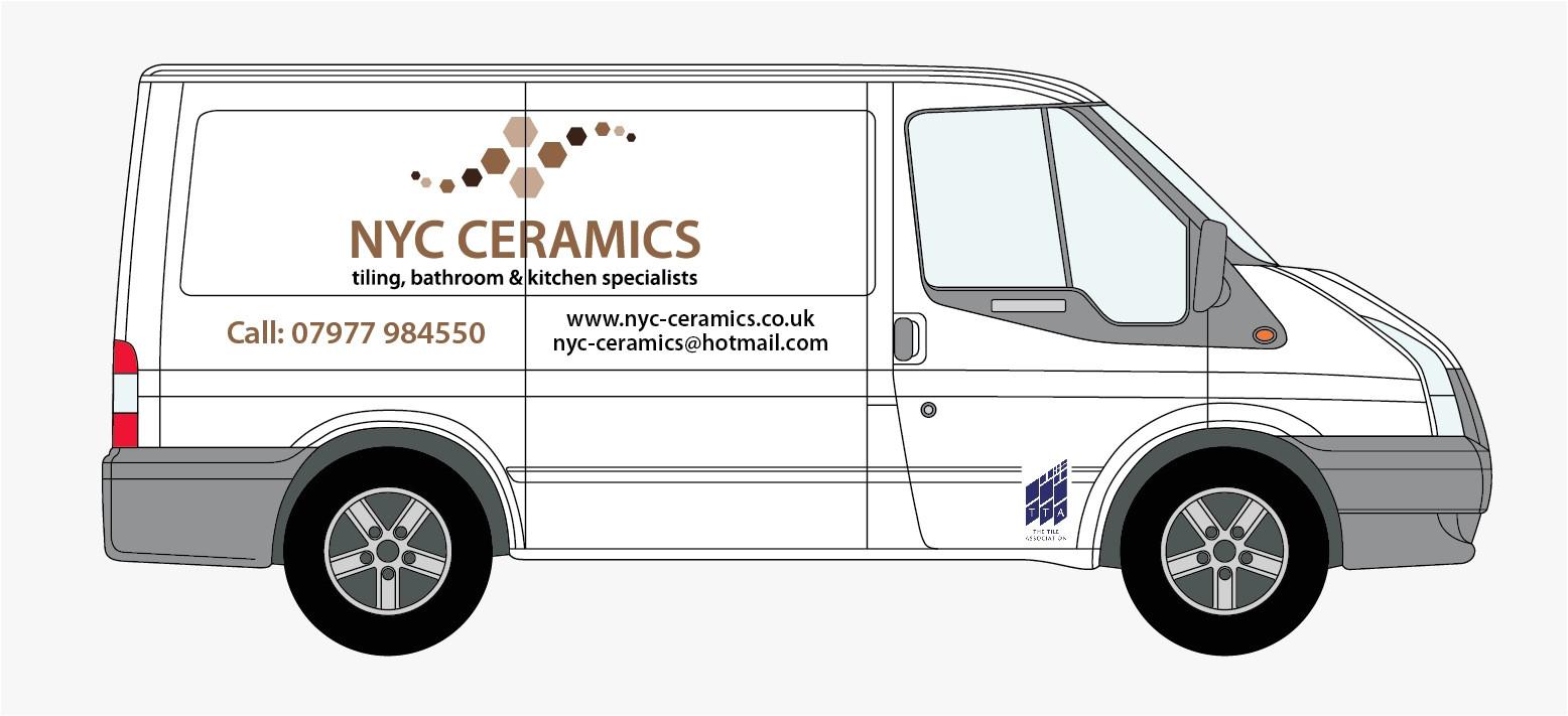 sign writing for nyc ceramics new van