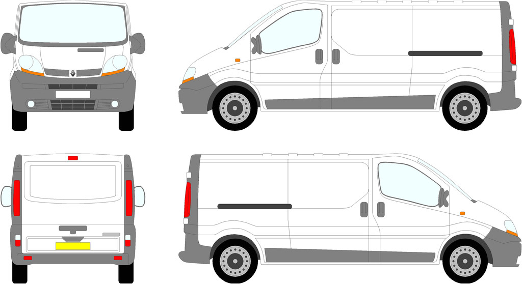 Van Sign Writing Templates Renault Trafic Vauxhall Vivaro Lwb Tailgate 00 08 Flickr