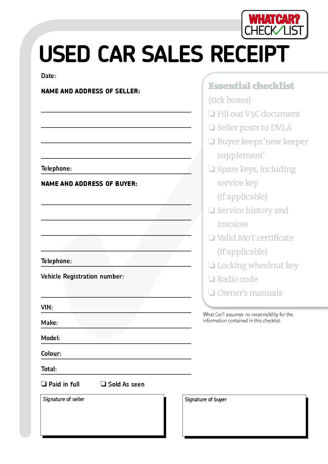 car sales invoice template free download 2972