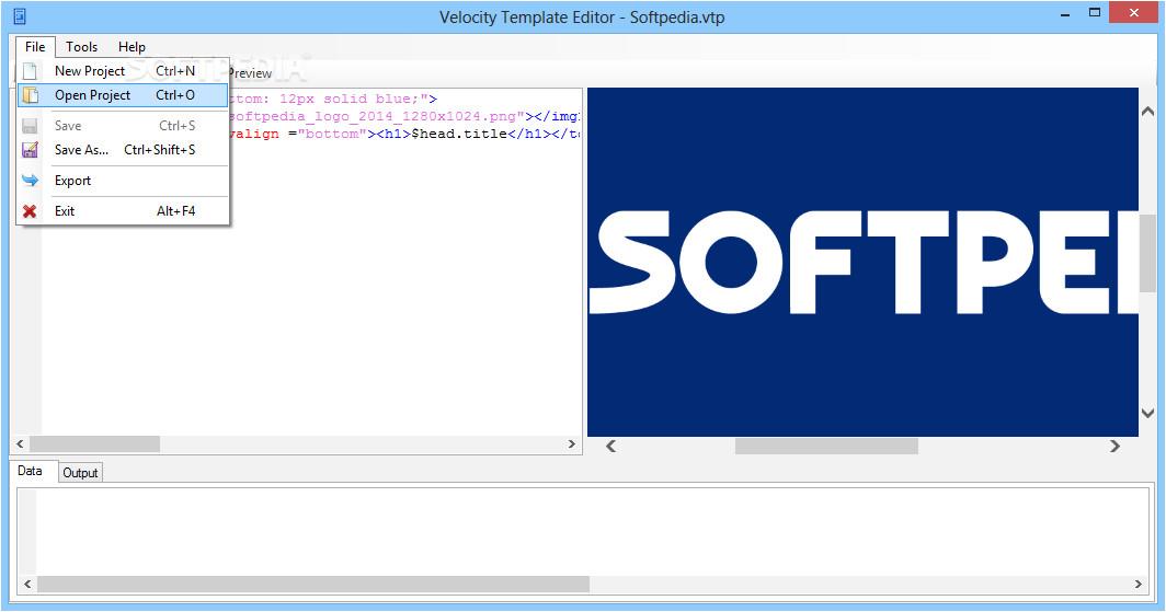 velocity template editor shtml