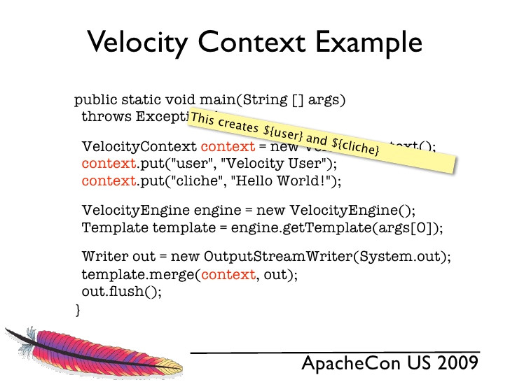 velocity template example