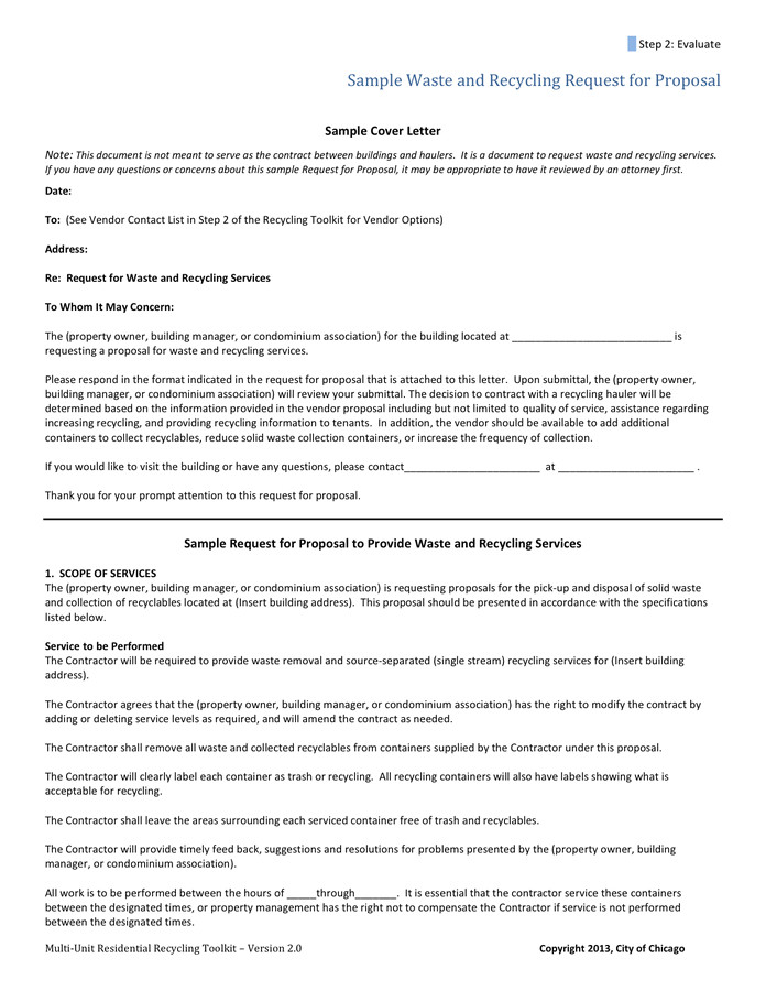 vendor proposal cover letter 1