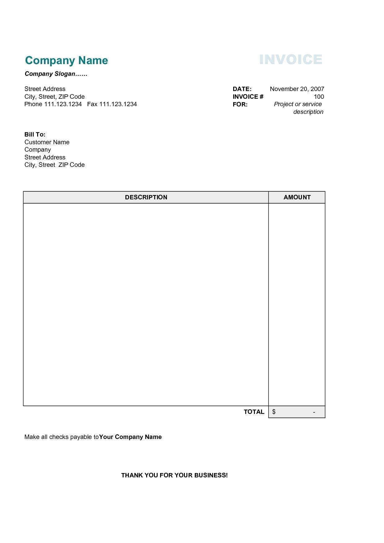 vertex invoice template