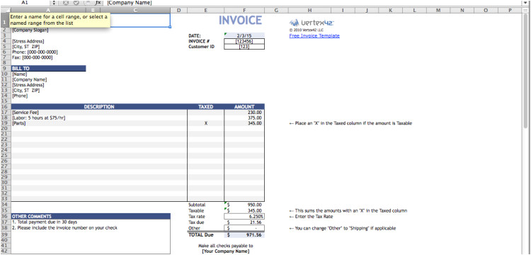 vertex invoice template top 5 best invoice templates to use for business printable free