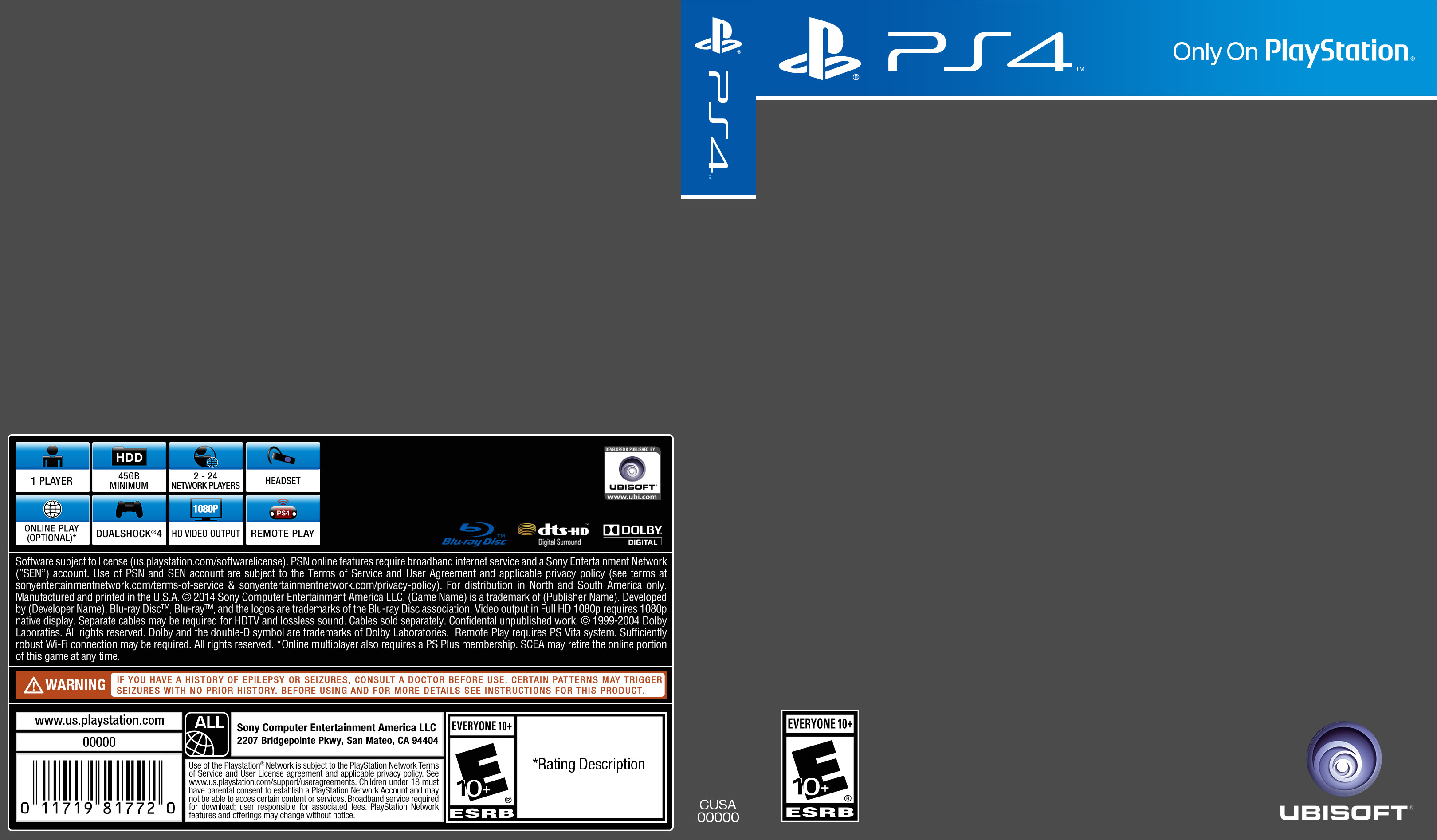 ps4 cover template 472458744