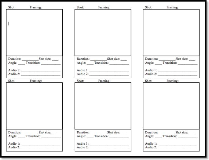 video storyboard template powerpoint