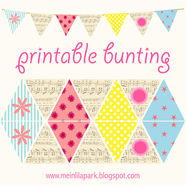 post free printable paper bunting 23778