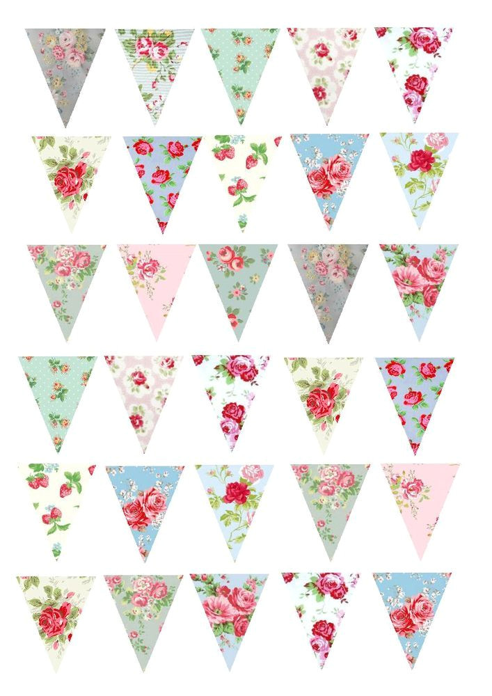 printed wafer paper a4 sheets floral buntings