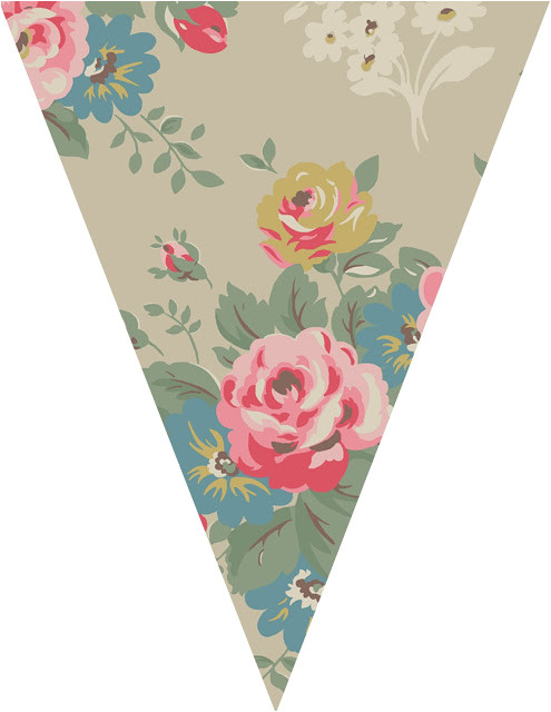 vintage bunting template