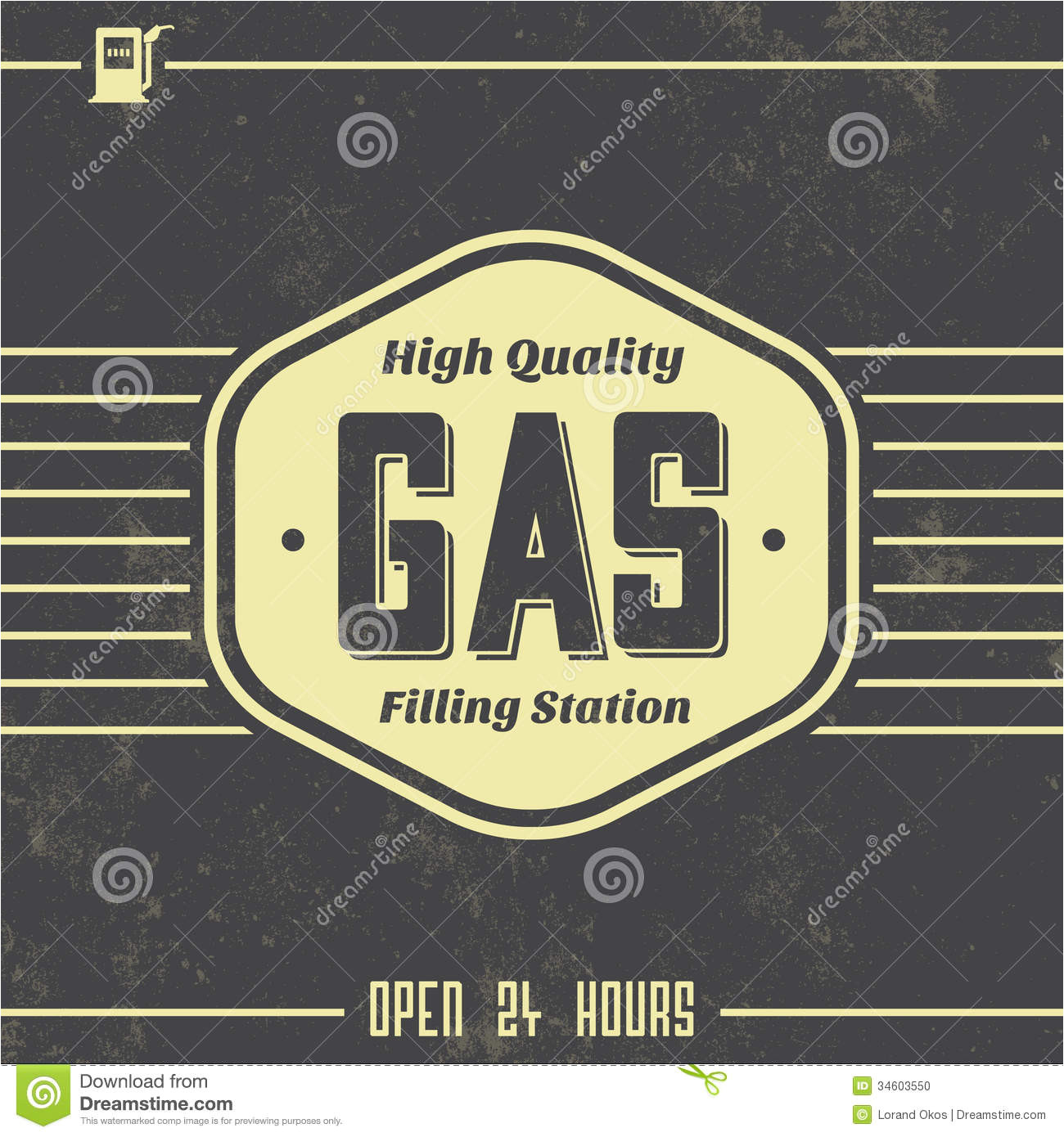 stock photo vintage gasoline sign retro template grunge texture image34603550