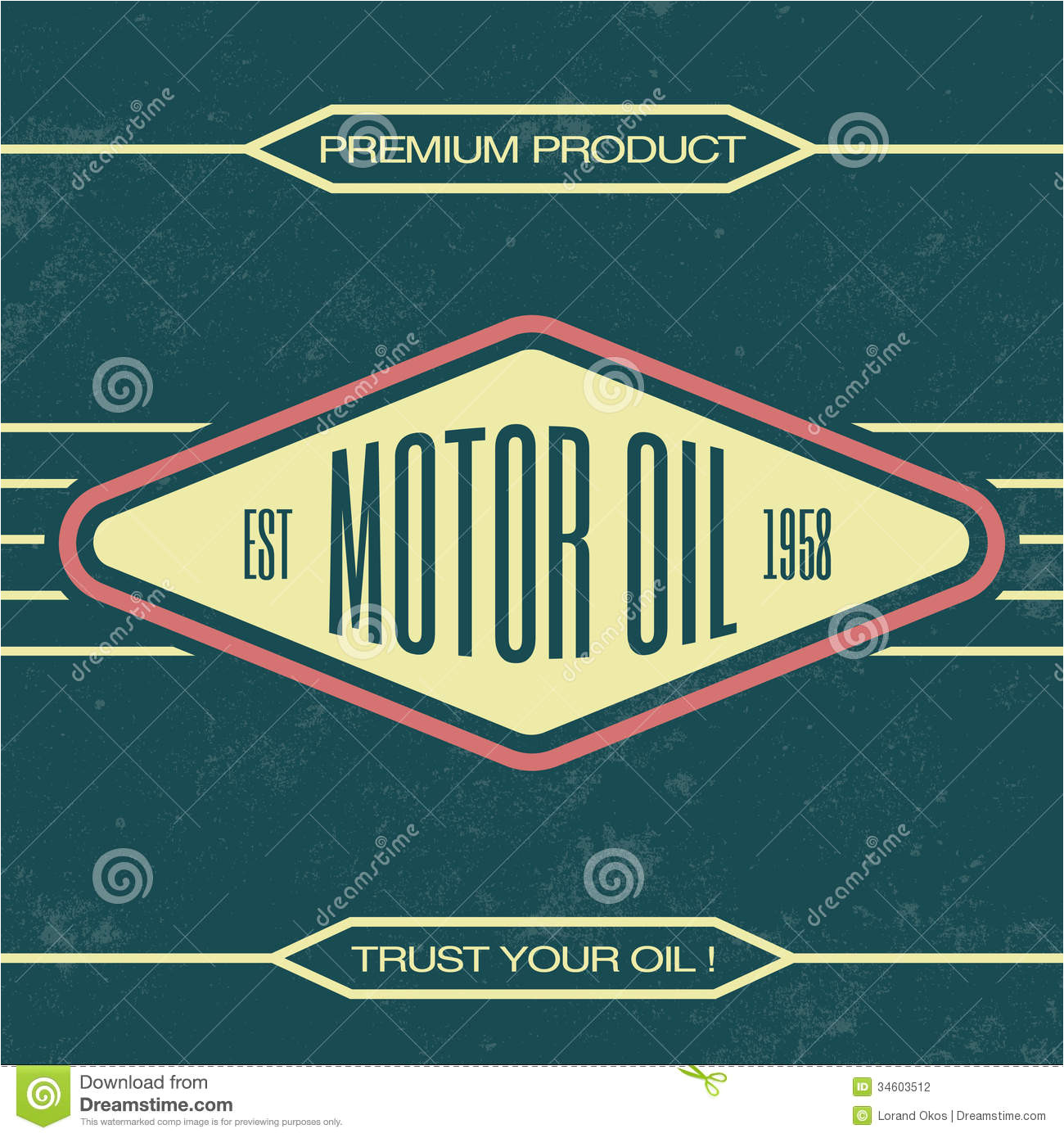stock photography vintage oil sign retro template grunge texture image34603512