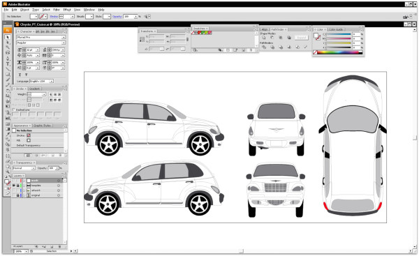 car vinyl wrap templates