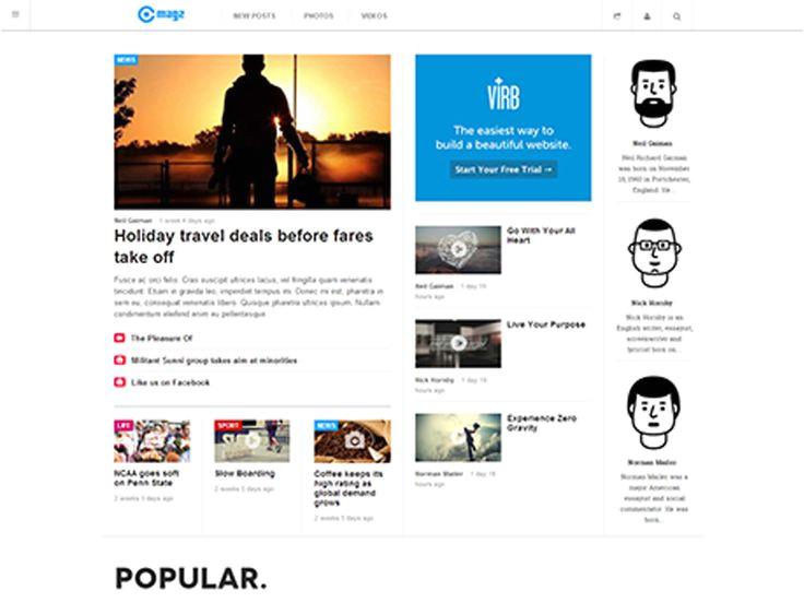 virb templates 9 best corporate website templates images on pinterest