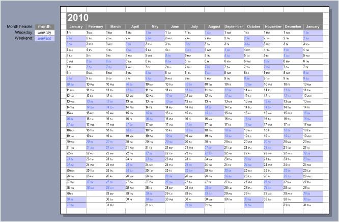visio 2010 year calendar template