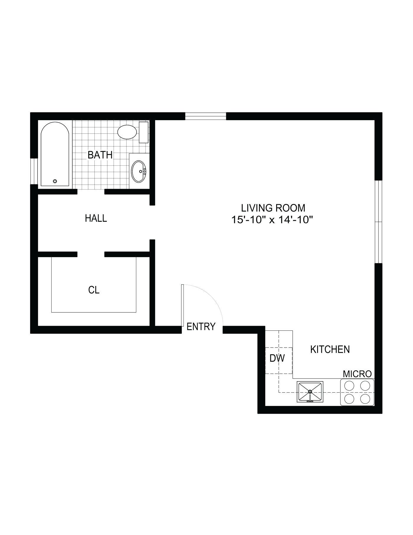 visio kitchen template