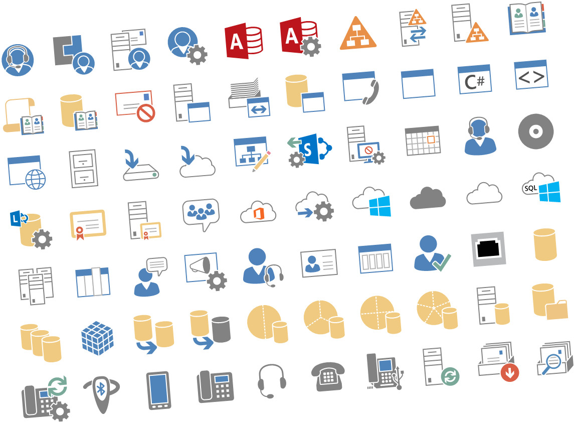 microsoft released new visio stencils for office server and office 365