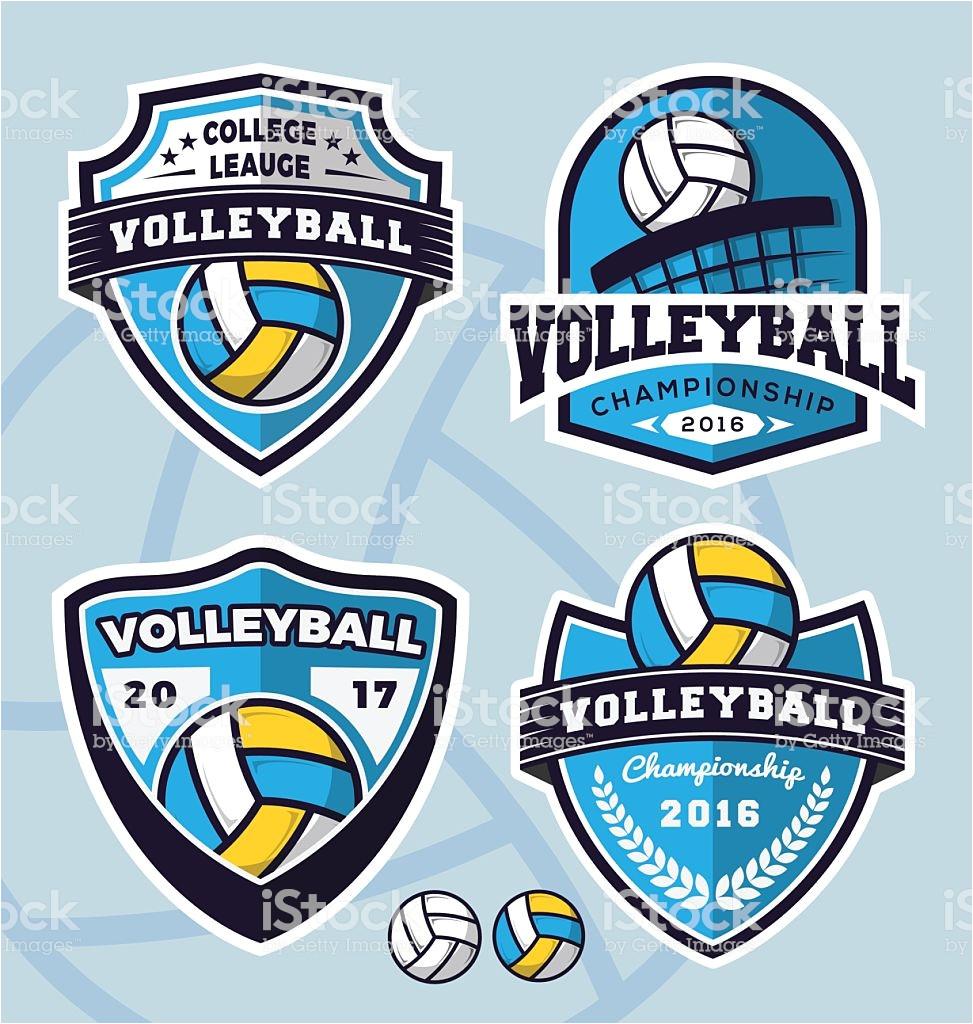 set of volleyball logo template design gm522397506 91623817