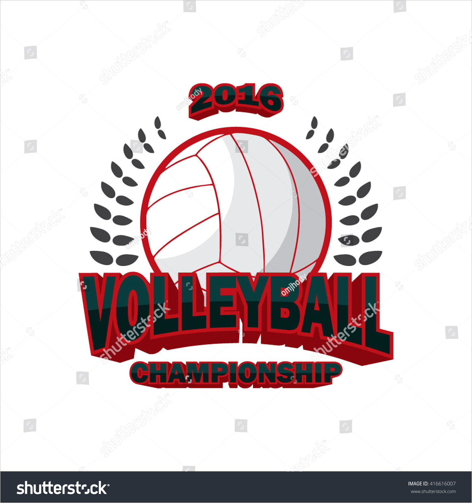 stock vector vector illustration of volleyball badge logo templates sport shirt graphics volley ball