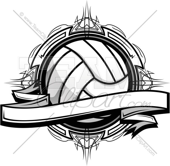 volleyball clipart logo graphic vector template