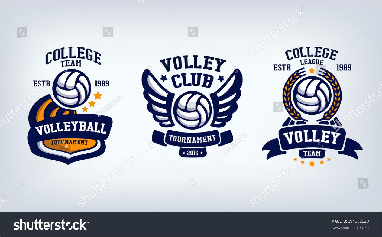 volleyball logo design templates