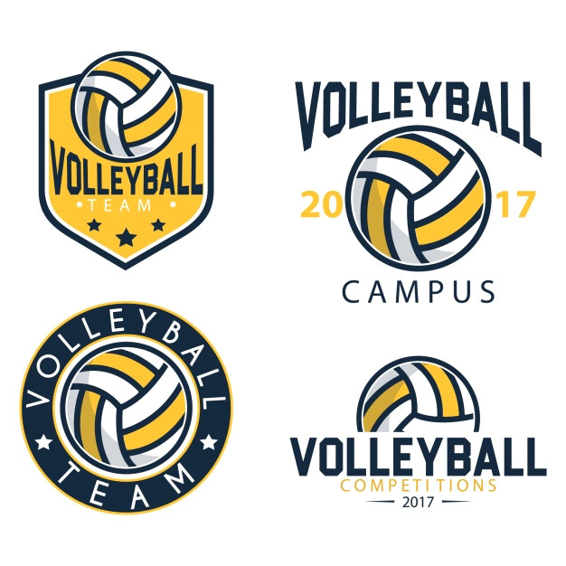 Volleyball Logo Design Templates Volleyball Logo Templates Vector Free Download