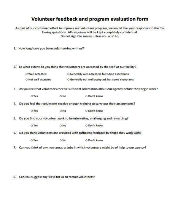 free feedback forms
