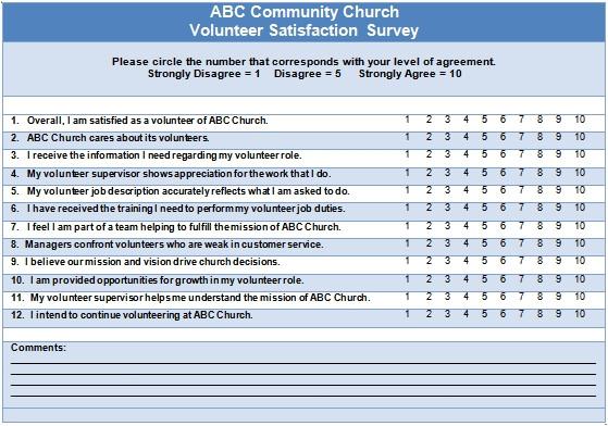 Volunteer Satisfaction Survey Template Volunteer Satisfaction 4 Opportunities to ask Questions
