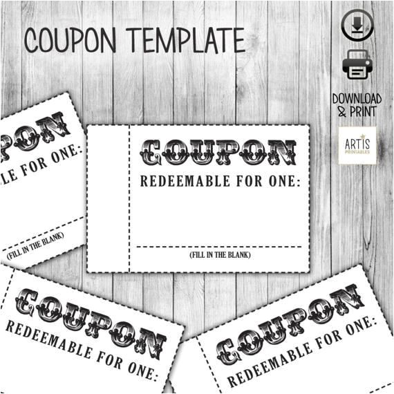 Voucher Booklet Template Coupon Book Coupon for Game Empty Love Coupon Date Diy