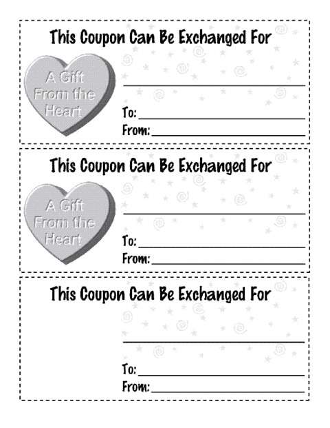 coupon book template