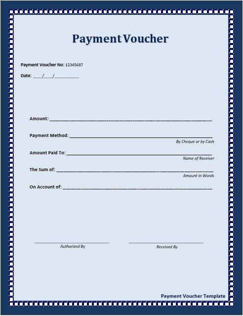 Voucher HTML Template 10 Free Sample Payment Voucher Templates Printable Samples