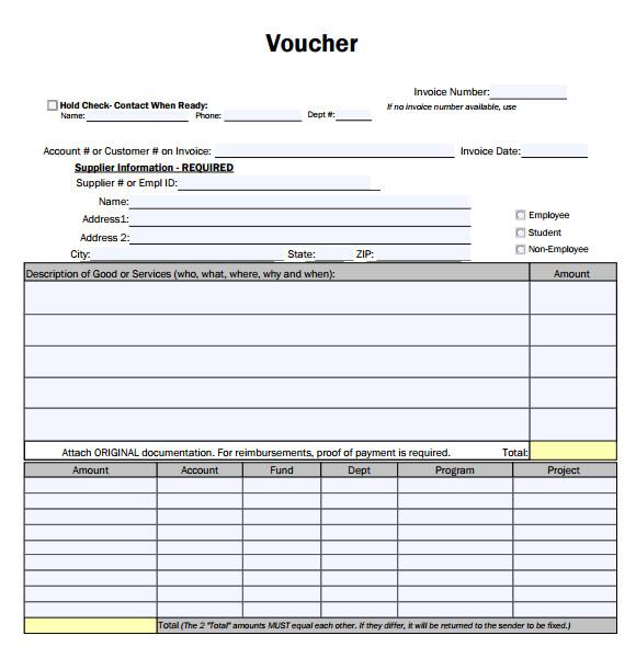 free voucher template