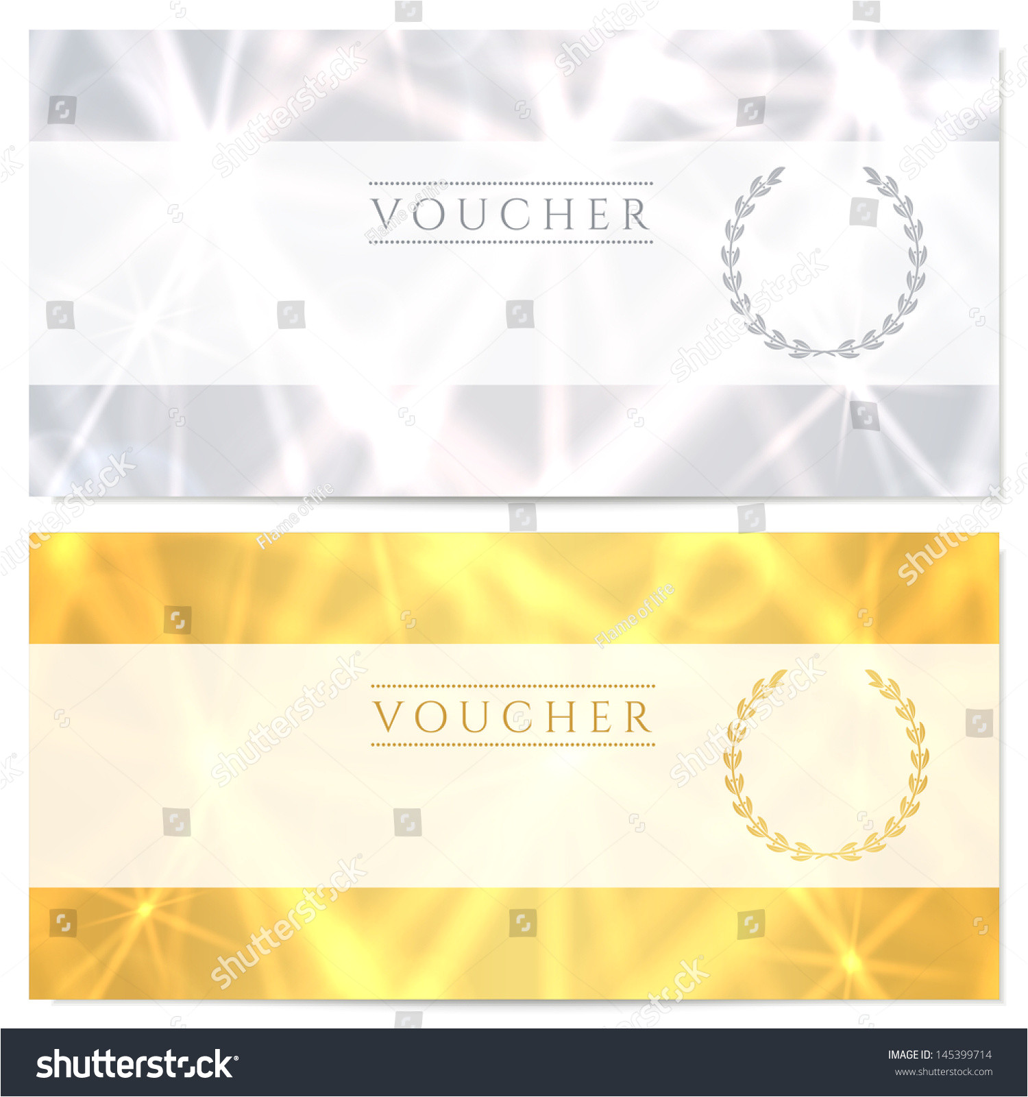stock photo voucher gift certificate coupon template with pattern sparkling twinkling stars background