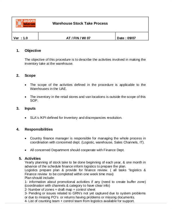 sop templates pdf