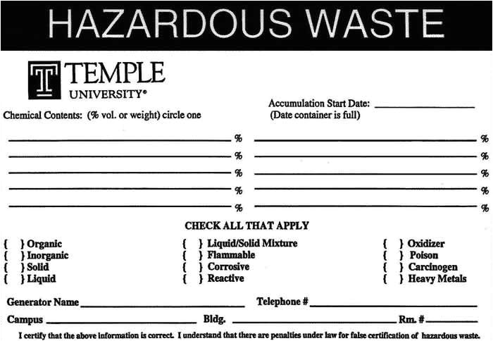 Waste Management Strategy Template Hazardous Waste Label Template sokolteacher Plan Bee