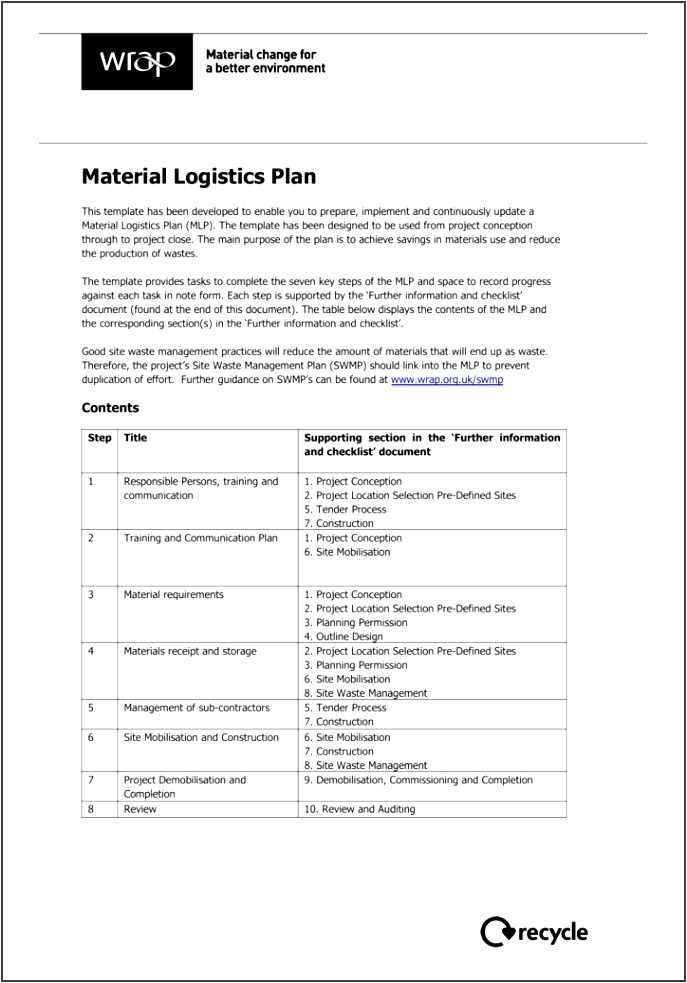 Waste Management Strategy Template Template for A Site Waste Management Plan Archives