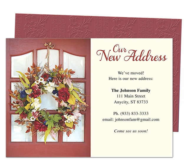 moving announcement or new address cards