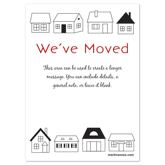 we have moved card with houses